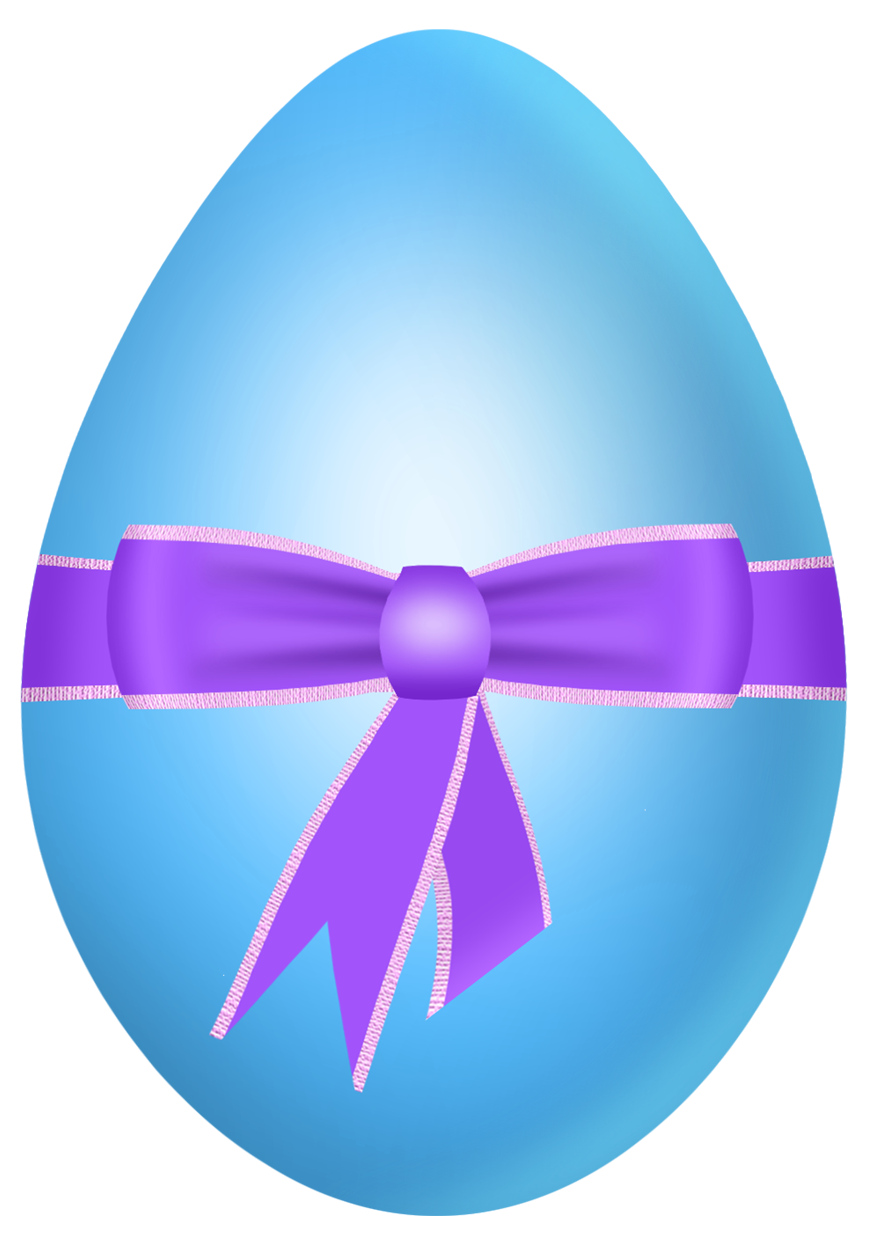 Purple clipart easter egg. Blue with bow png
