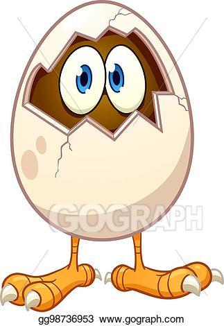 Egg clipart single. Clip art vector cartoon