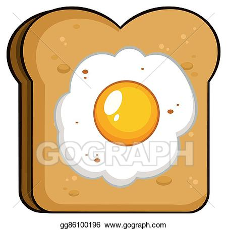 Eps vector cartoon toast. Egg clipart slice
