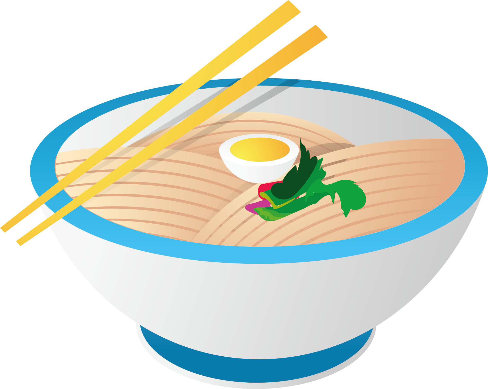 Shrimp roe kal guksu. Noodles clipart european food