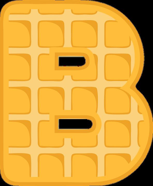 Free photo b typography. Waffle clipart egg