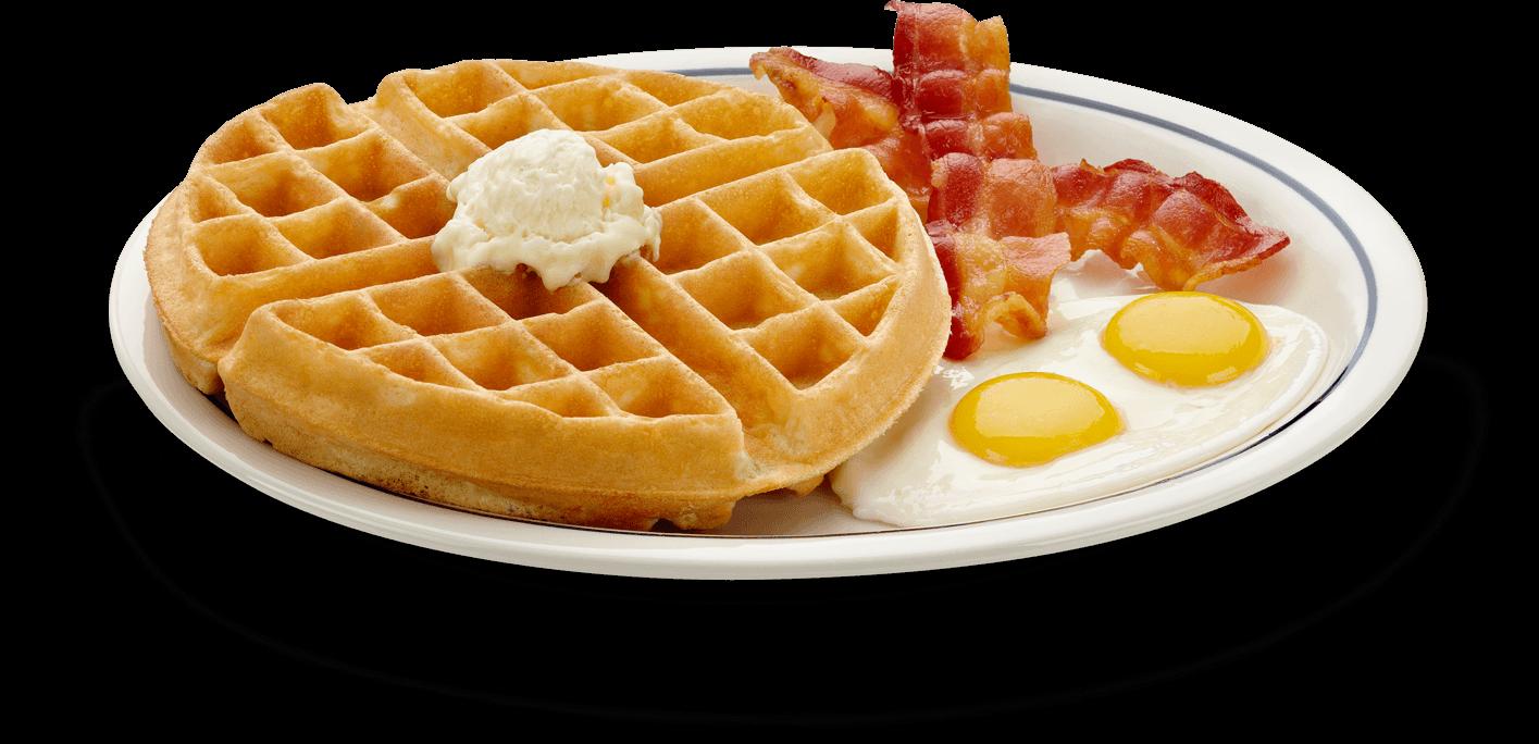 Eggs waffle
