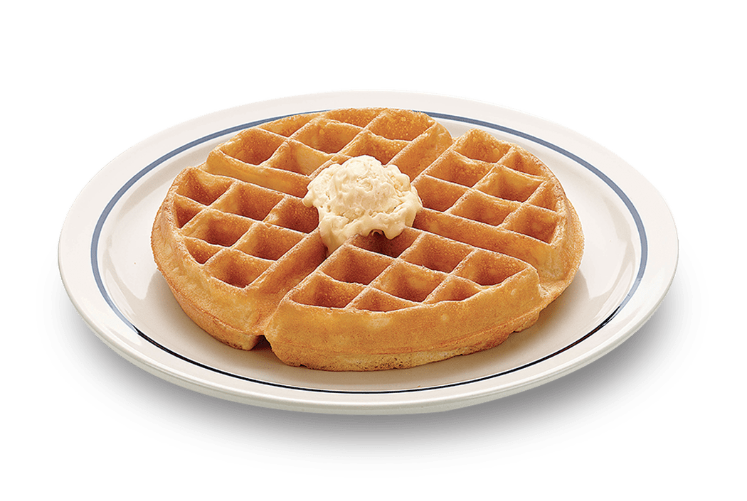 Happy national day waffles. Waffle clipart plate