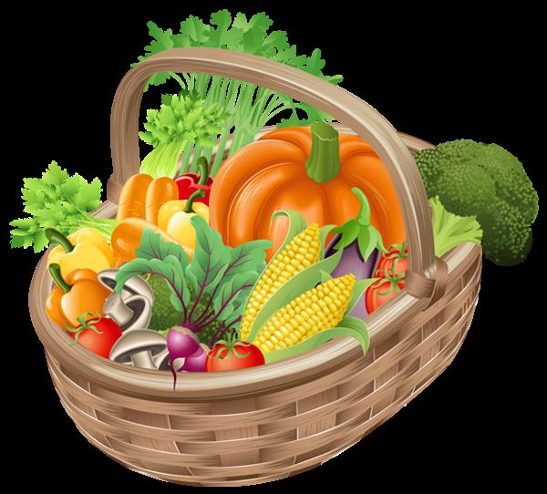 Eggplant clipart single vegetable. Basket with vegetables png