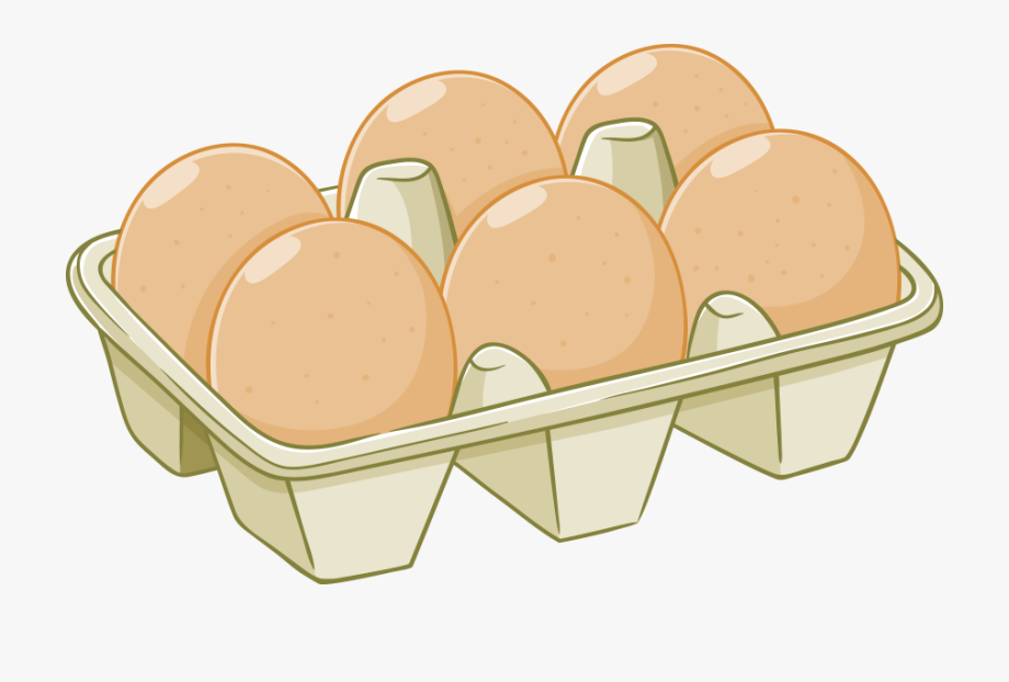 Egg drawing box of. Bacon clipart carton