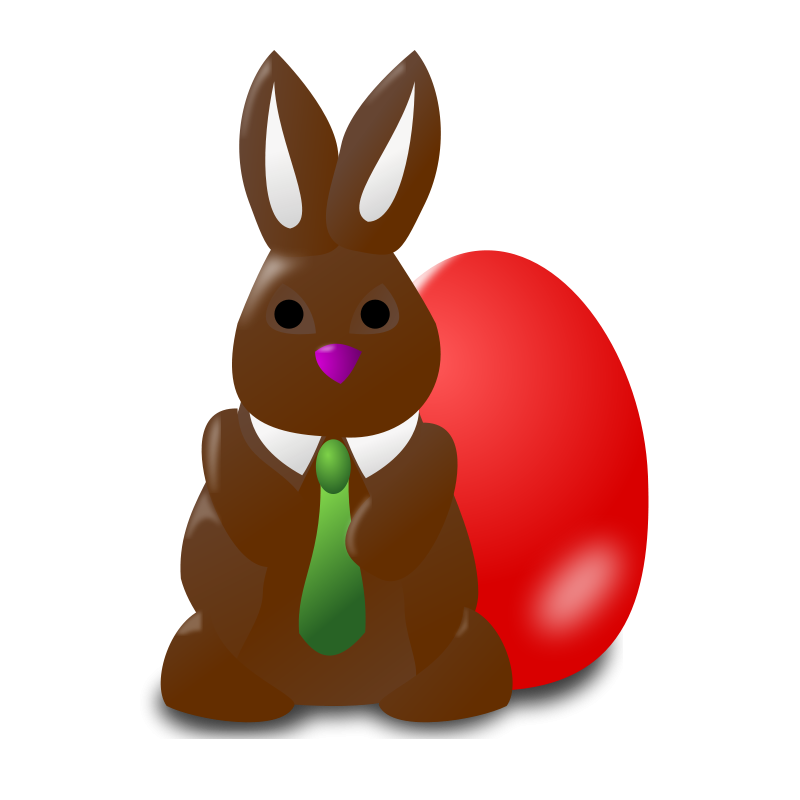 Bunny on sunday afternoon. Eggs clipart chocolate