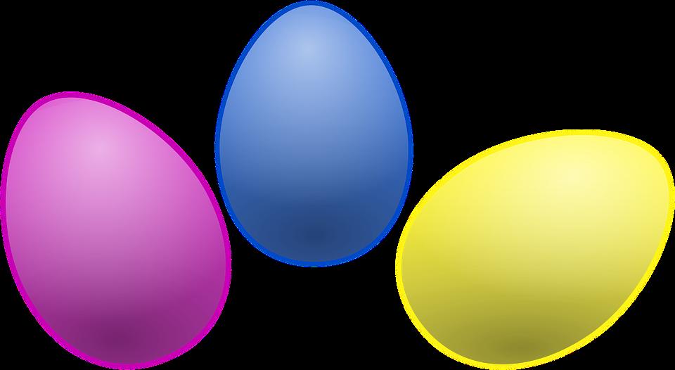 Eggs colored egg