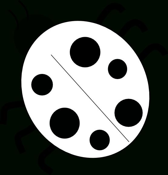 Ladybug black and white. Ladybugs clipart five