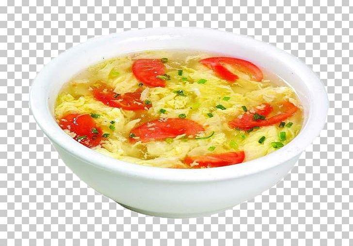 Drop hot and sour. Soup clipart egg