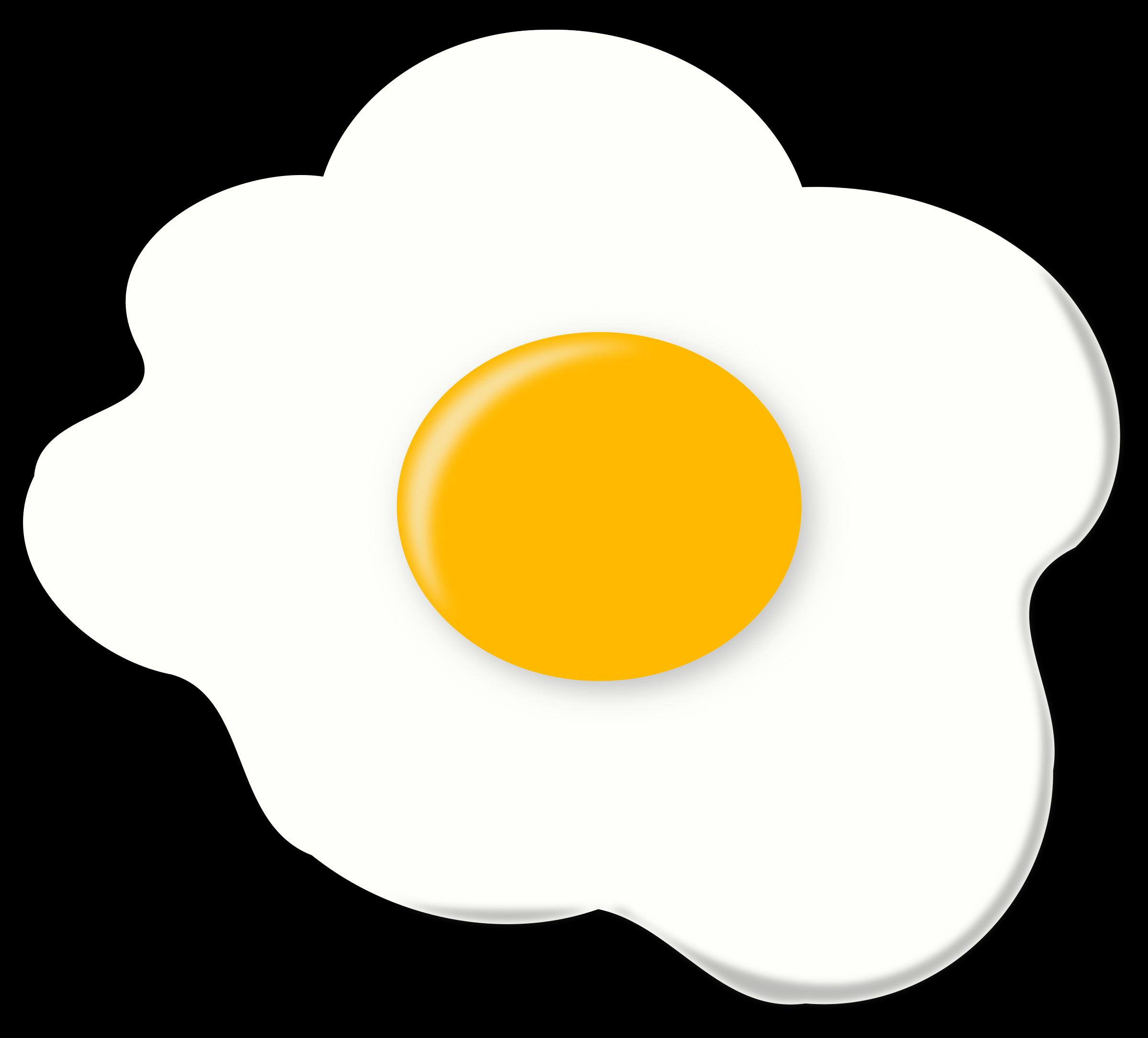 Jajko side up egg. Sunny clipart outline