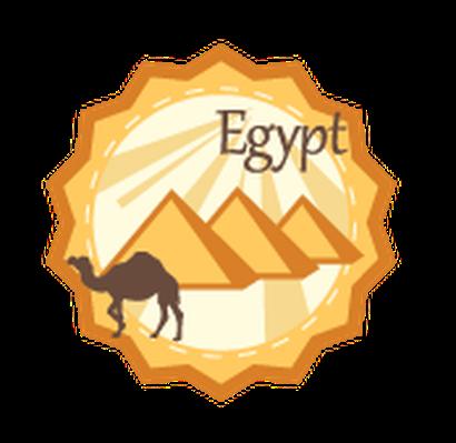 Egypt clipart. Travel labels or badges