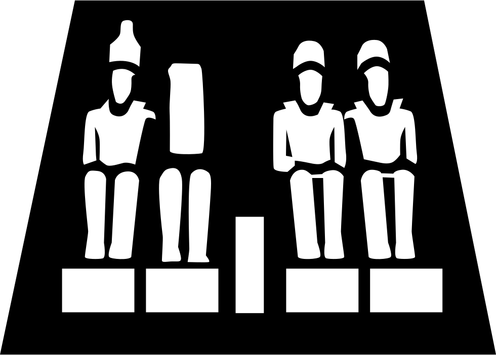 Svg png icon free. Egypt clipart abu simbel