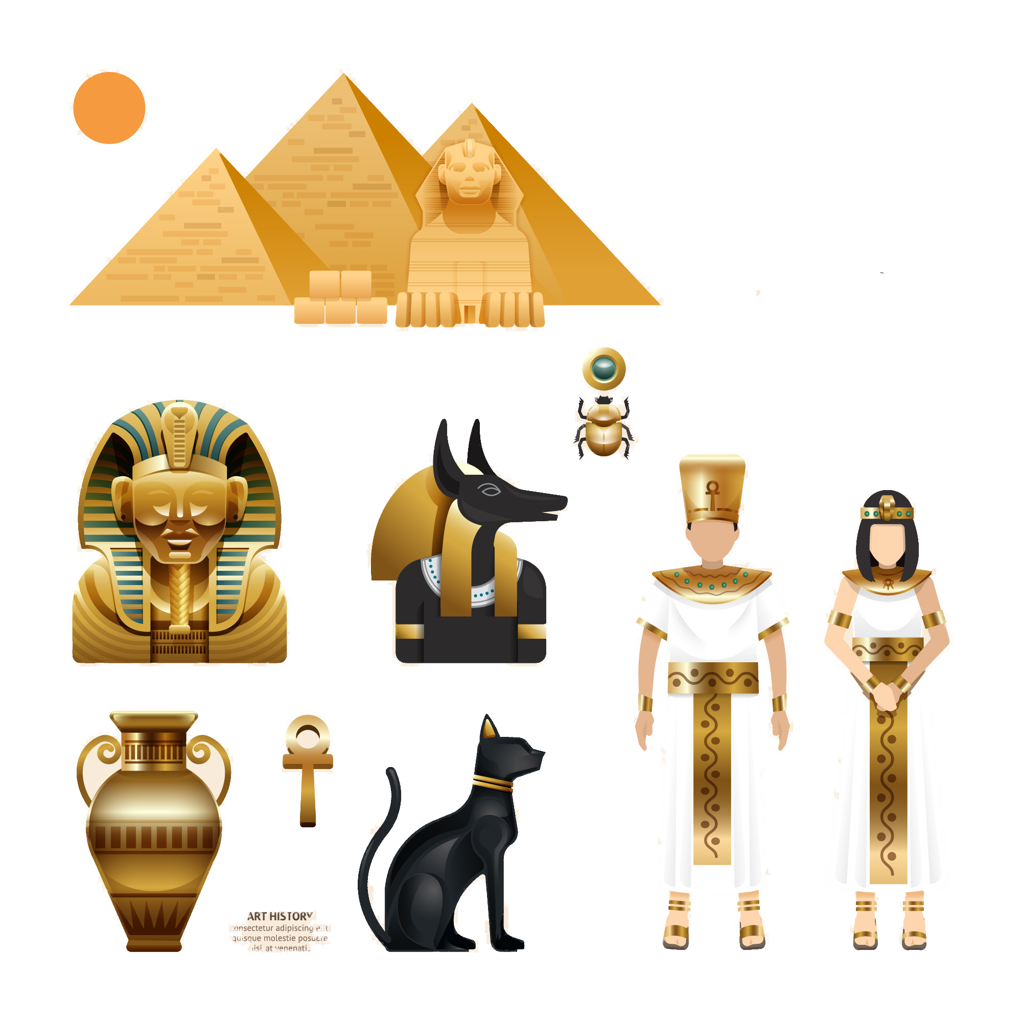 Royalty free features icon. Egypt clipart africa ancient