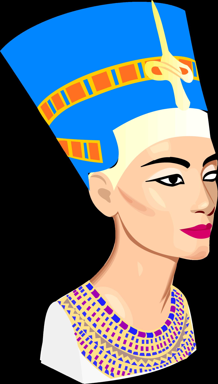 Nefertiti portrait big image. Egypt clipart africa ancient