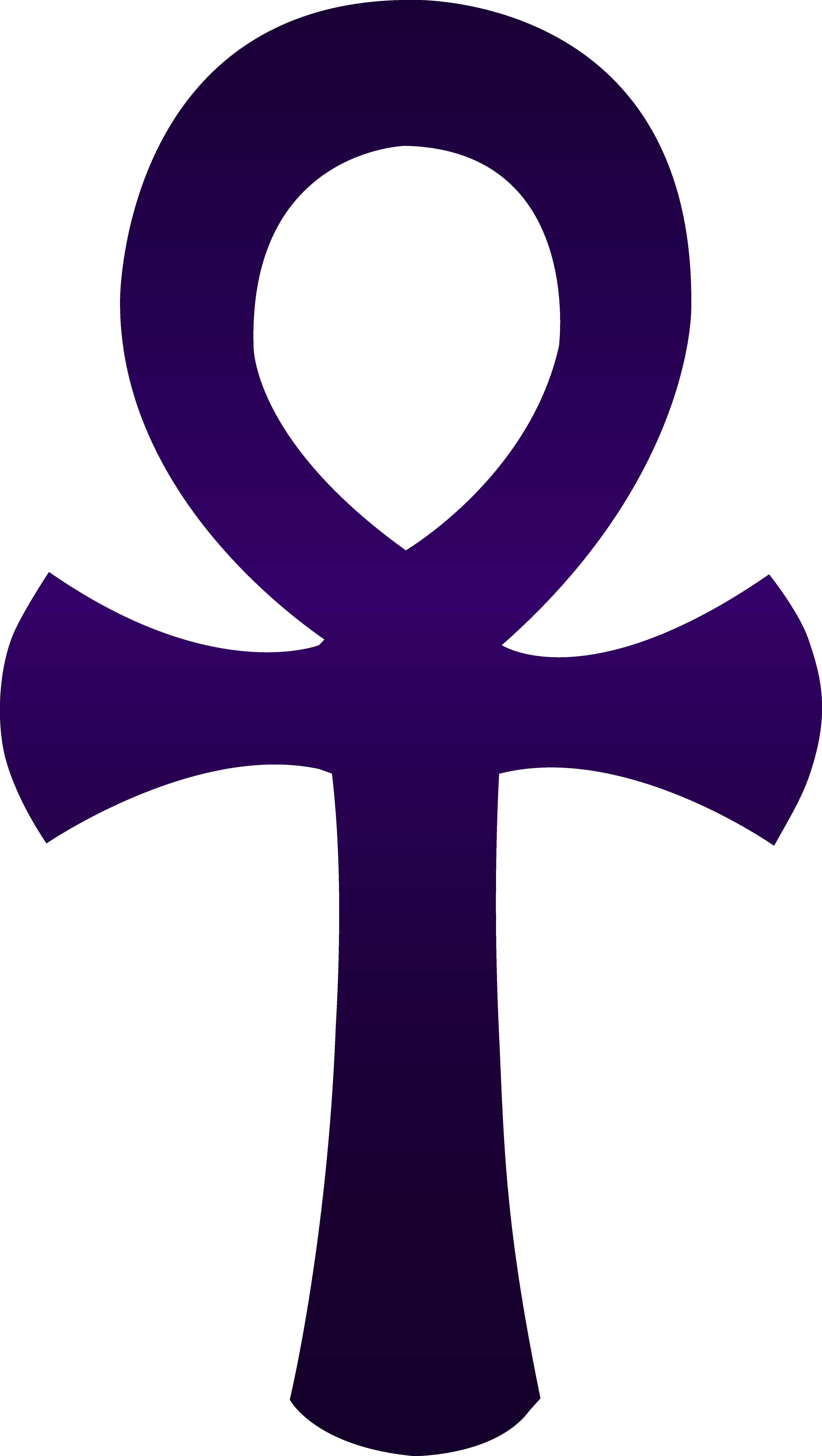 Violet egyptian ankh symbol. Egypt clipart africa ancient