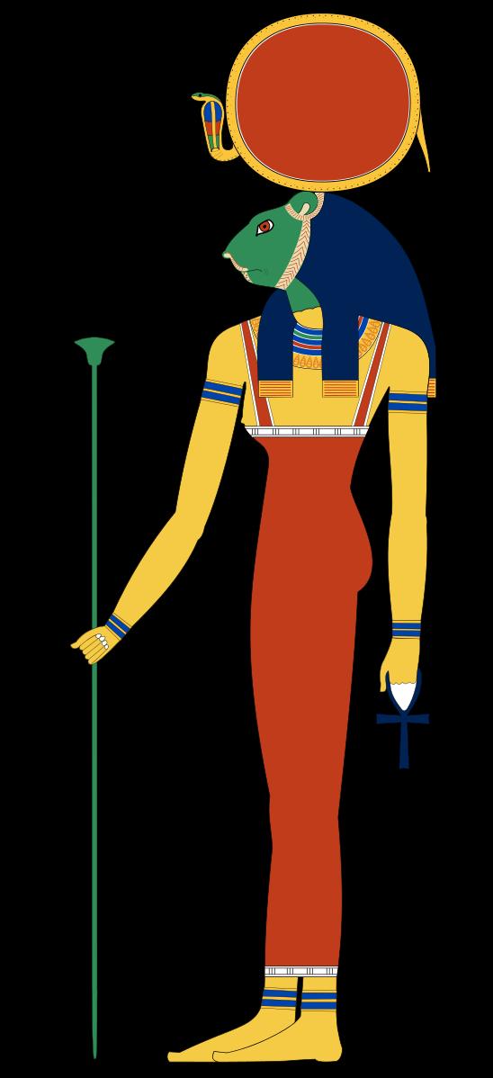Sekhmet goddess of fire. God clipart mythical