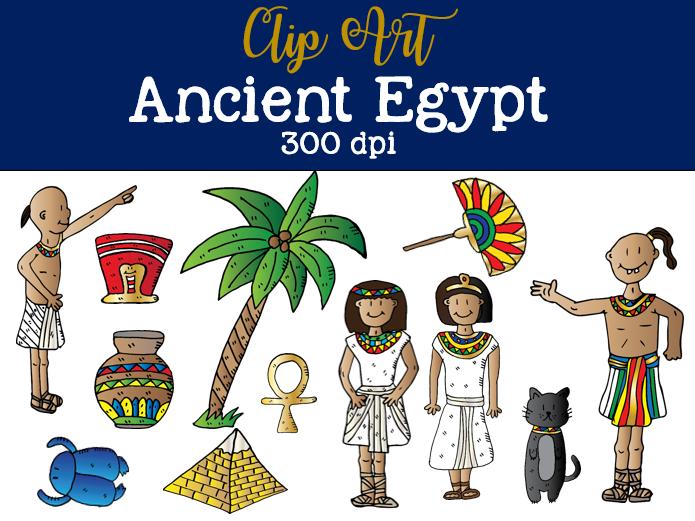 Ancient clip art set. Egypt clipart cool