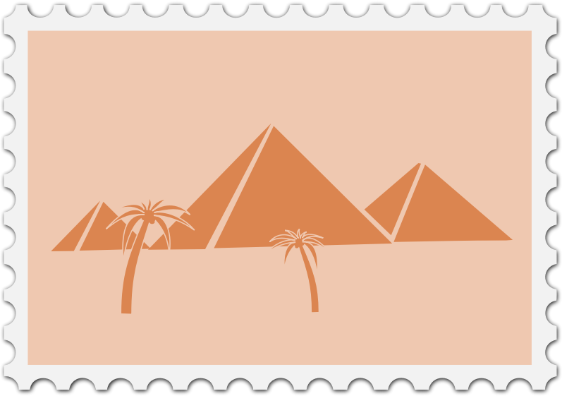 Stamp medium image png. Egyptian clipart pyramid