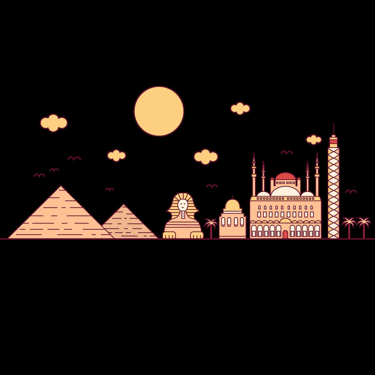 Egypt clipart desert pyramid. Cairo egyptian pyramids euclidean
