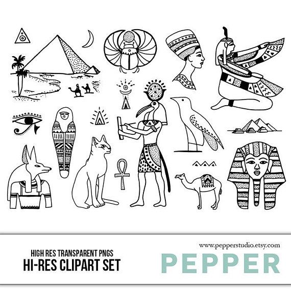 Egyptian clipart drawing. Ancient egypt doodle history