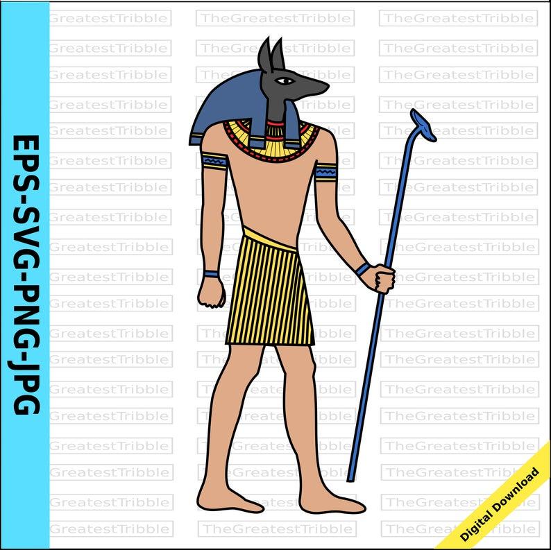 God clip art eps. Egypt clipart egyptian anubis