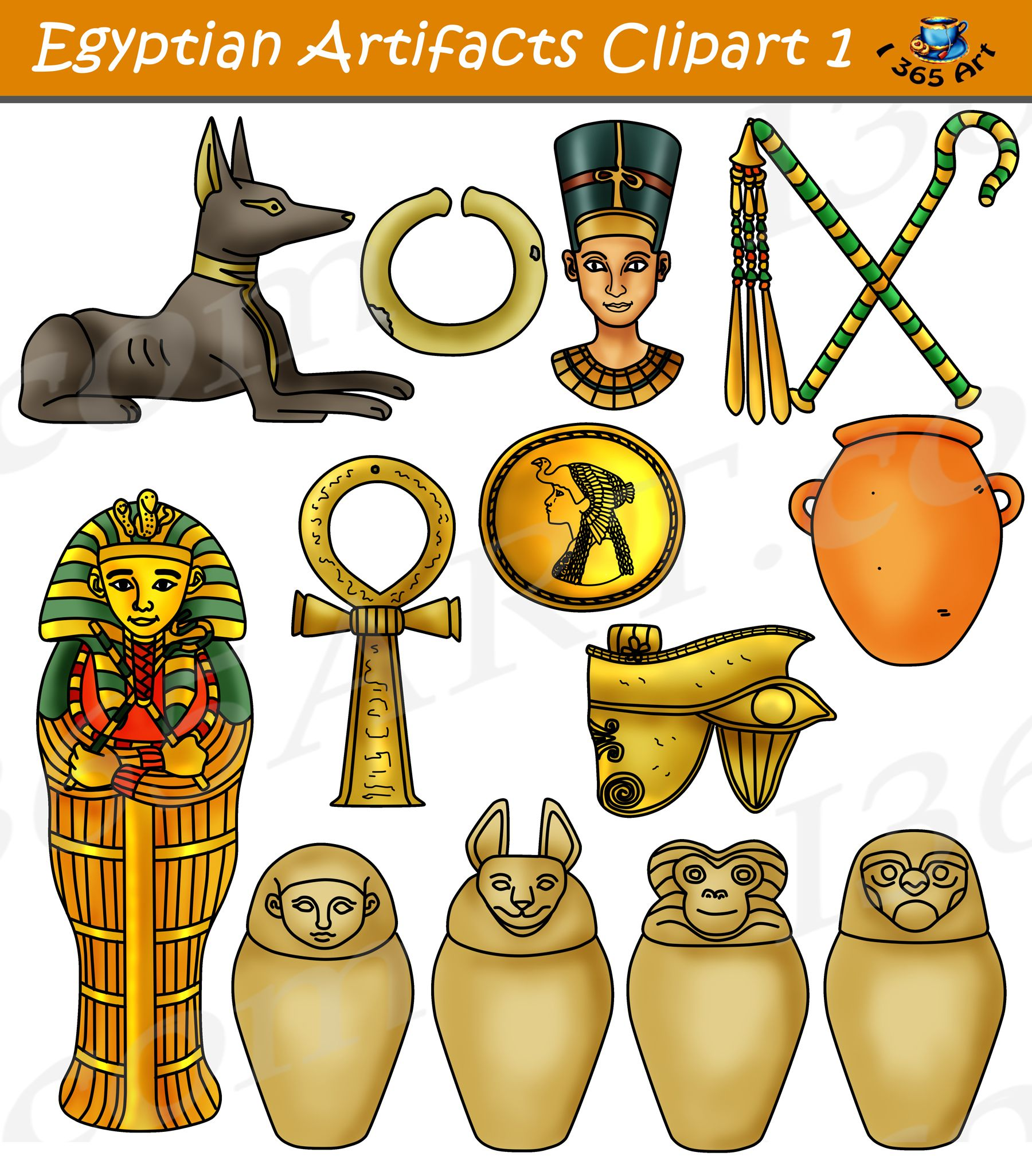 Artifacts part digital download. Egypt clipart egyptian artifact