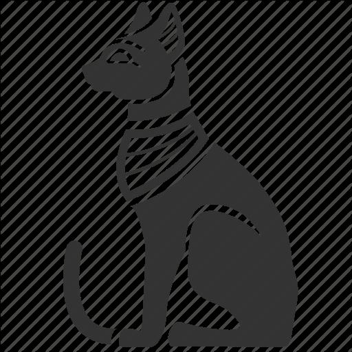Silhouette white black transparent. Egypt clipart egyptian cat