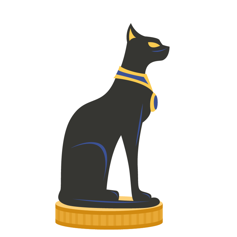 Egyptian black cat