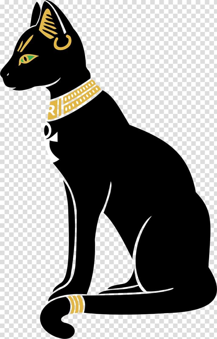 Bastet mau ancient . Egypt clipart egyptian cat
