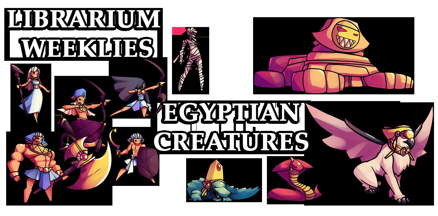 Egypt clipart egyptian character. Librarium weeklies creatures kashics