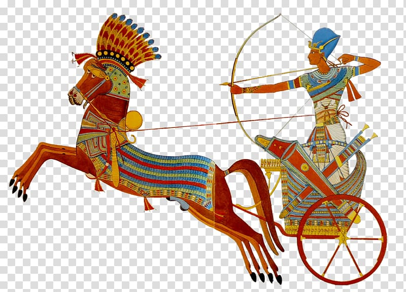 Egypt clipart egyptian dynasty. Person riding chariot illustration