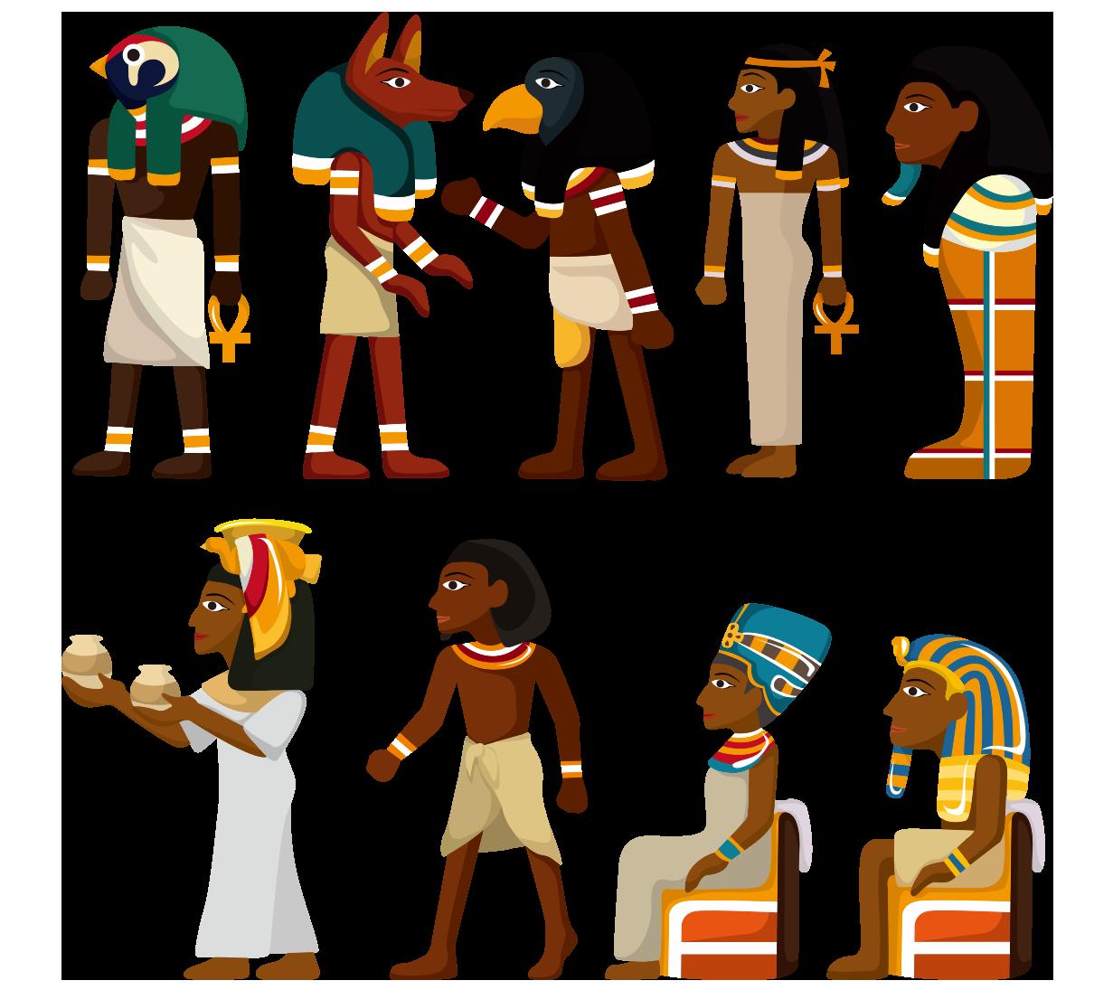 Egypt clipart egyptian figure. Ancient hieroglyphs cartoon painted