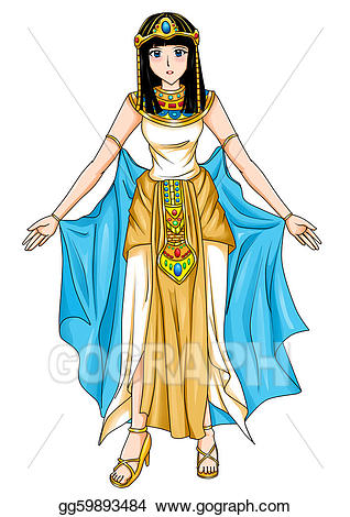 Egyptian clipart egyptian princess. Drawings of egypt stock