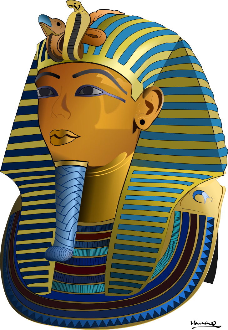 The burial mask of. Egypt clipart king tut's