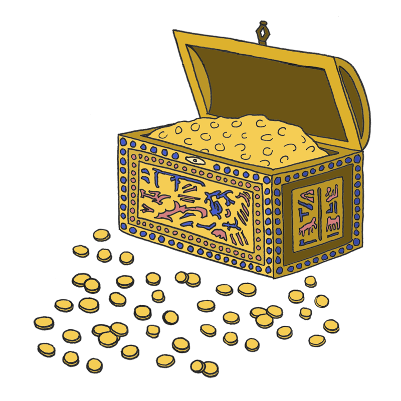 Treasure clipart egyptian treasure. Paper fables egypt illustrations