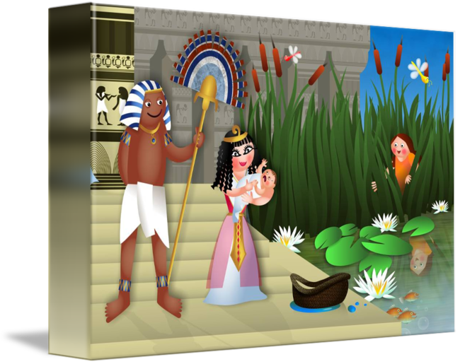 Moses clipart clipart egypt. Baby and the egyptian