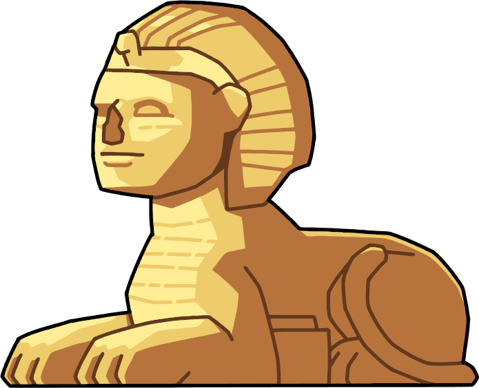 Sphinx structure scribblenauts wiki. Egypt clipart pyramids illustration
