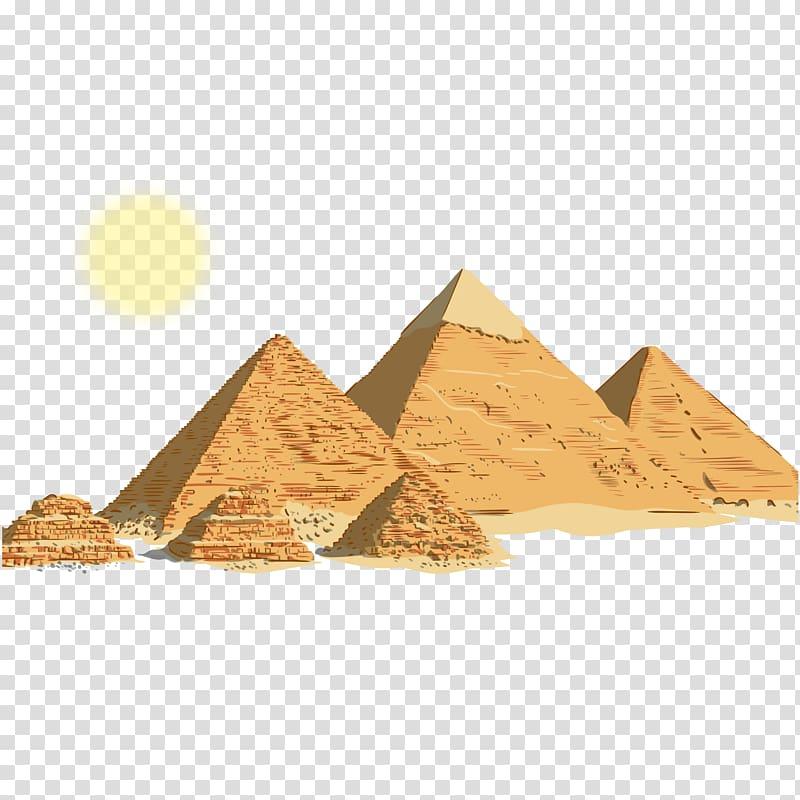 Egyptian clipart egyptian background. Pyramid illustration pyramids ancient
