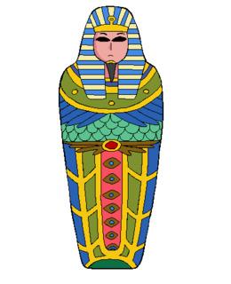 Clip art . Mummy clipart sarcophagus