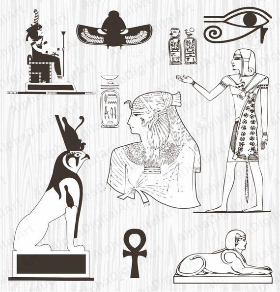 Egypt clipart scrapbook.  egyptian ornament pharaoh