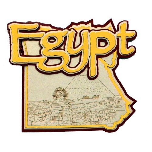 Paper wizard country maps. Egypt clipart scrapbook