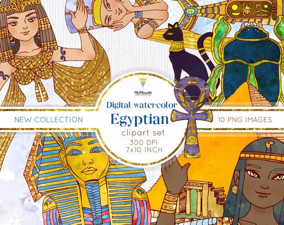 Ancient digital clip art. Egypt clipart scrapbook