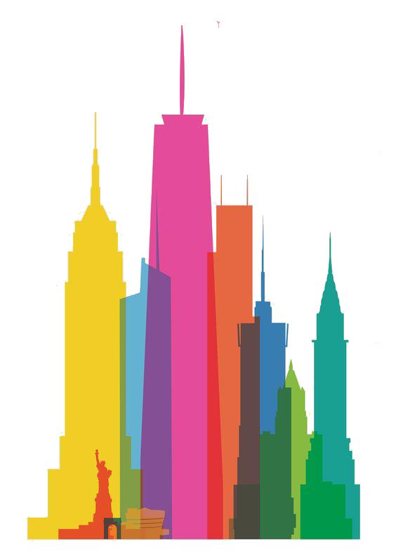 Egypt clipart skyline. New york city watercolor