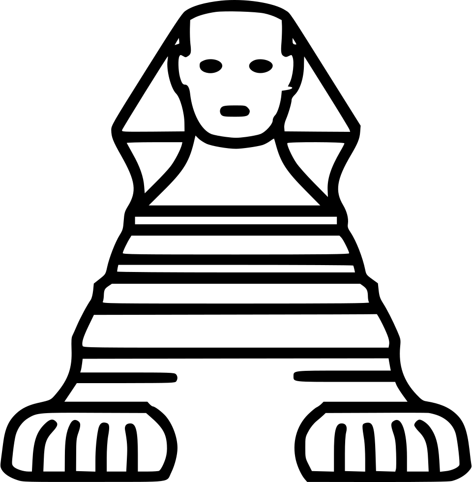 Egypt clipart sphynx. Svg png icon free