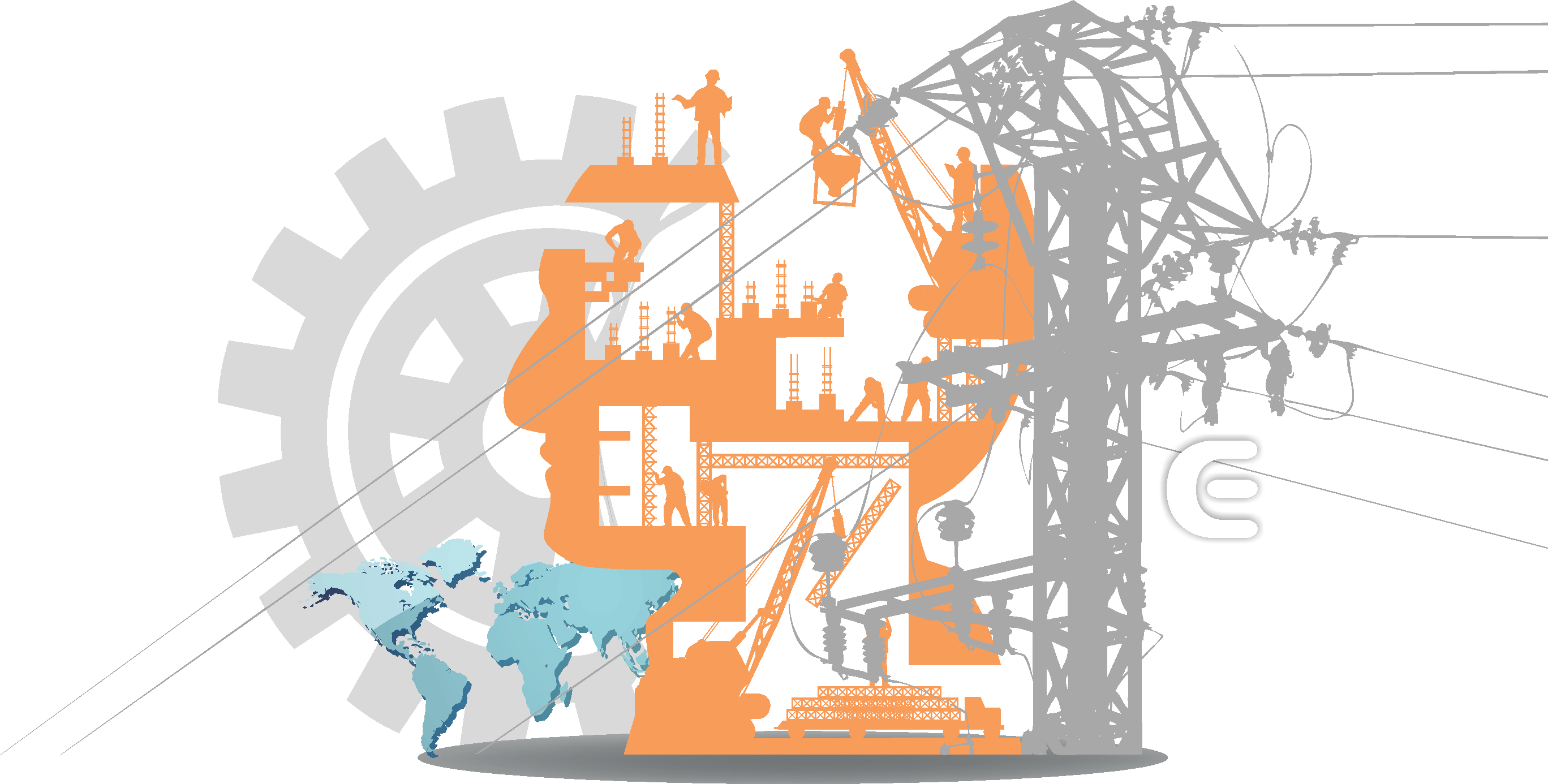 Electric power systems co. Engineer clipart electricity