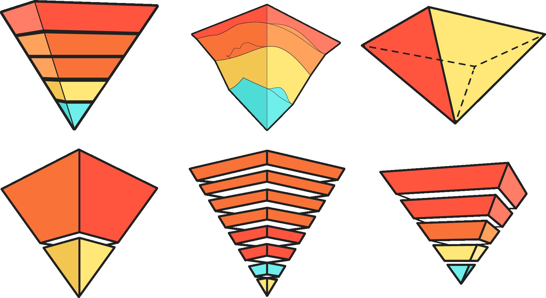 Inverted rainbow. Egypt clipart triangle pyramid