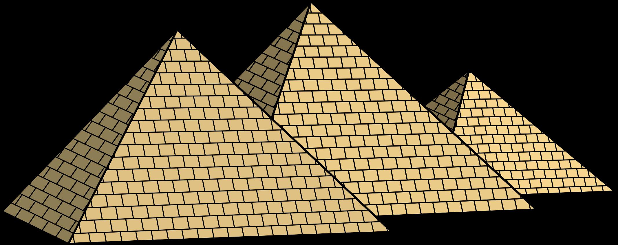 Egypt clipart triangle pyramid. Egyptian pyramids big image
