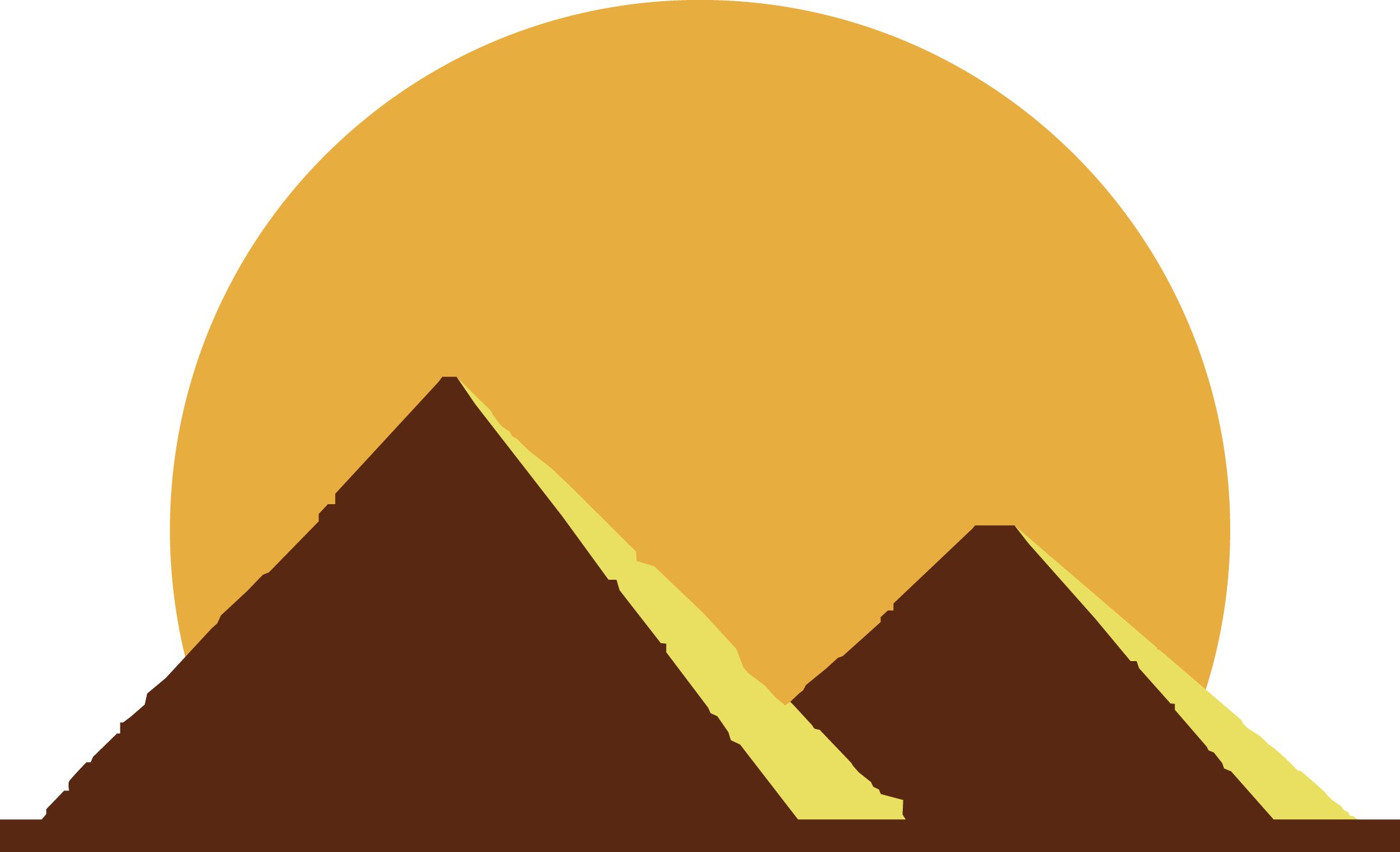 Egyptian pyramids ancient flat. Egypt clipart triangle pyramid