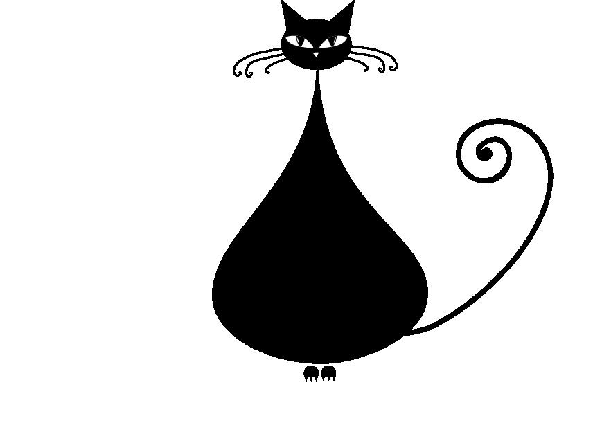 Kittens clipart pretty cat. Black kitten clip art