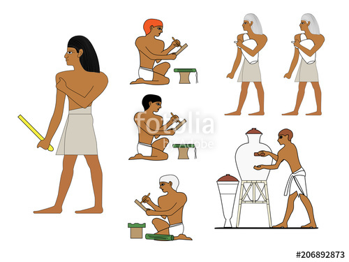 Egyptian clipart craftsmen. Ancient egypt ceramists at